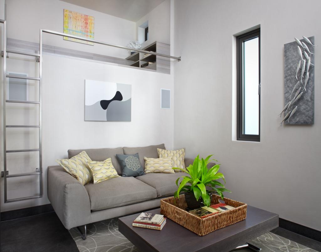 Оформление гостиной в стиле эко