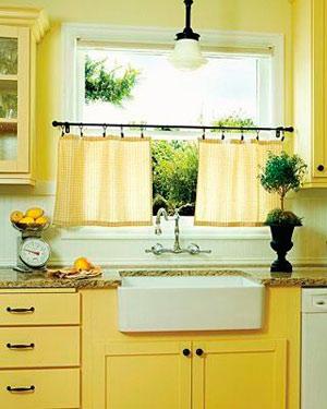 Цвет штор на кухню