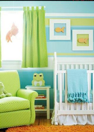 Цвет штор в детскую