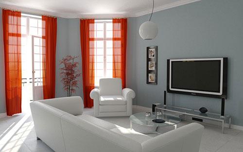 Цвет штор в гостиную