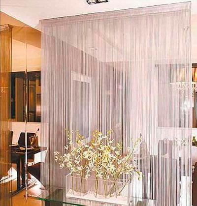 Делаем нитевые шторы