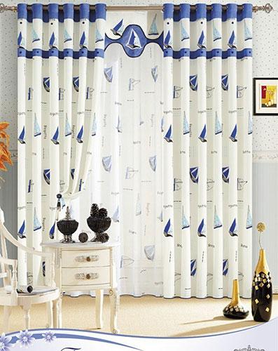 Дизайн штор в детскую для мальчика