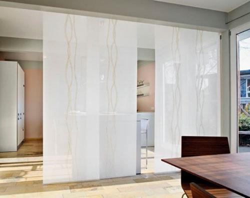 Дизайн японских штор для кухни