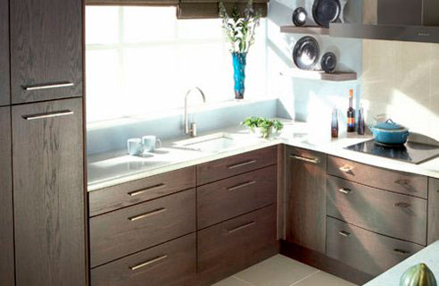 Интерьер кухни 9 кв м мебель