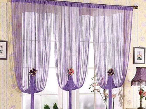 Как повесить веревочные шторы