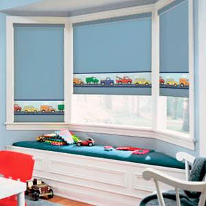 Как выбрать рулонные шторы в детскую