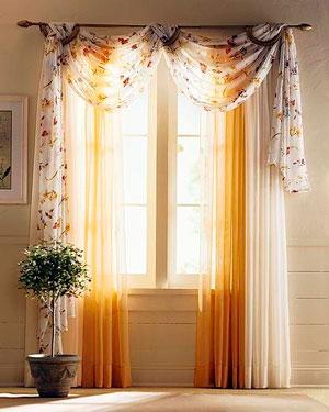 Как выглядят ассиметричные шторы