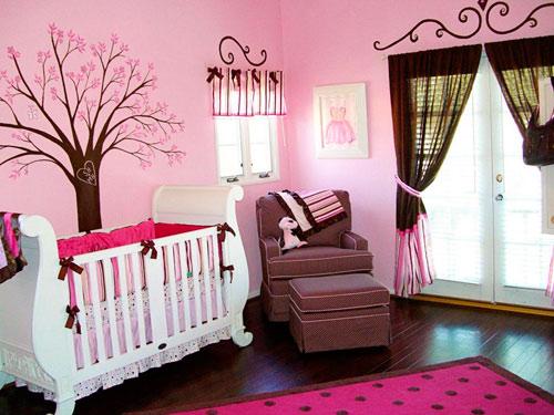 Материал штор к розовым обоям