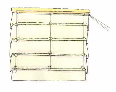 Механизм для римских штор своими руками