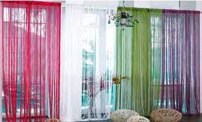 Нитевые шторы в интерьере