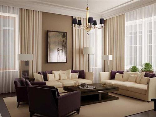 Особенности дизайна штор гостиной