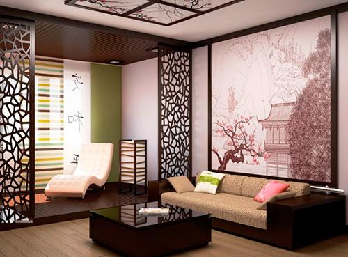 Гостиная в китайском стиле - дизайн интерьера