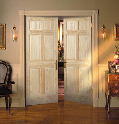 Сочетание цвета межкомнатных дверей с полом