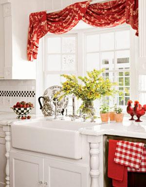Стиль штор для маленькой кухни