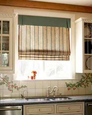 Ткань римских штор для кухни