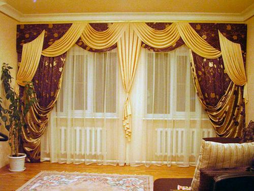 Цвет гардин для гостиной