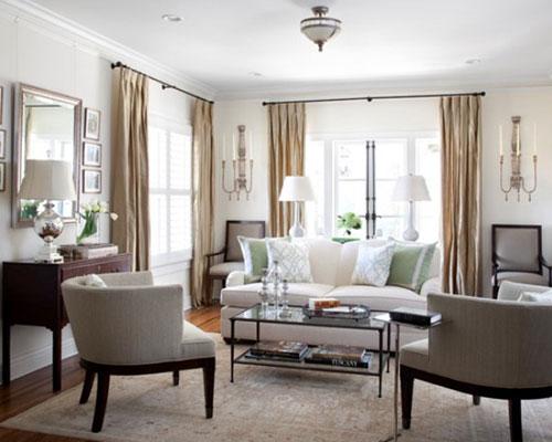 Цвета и узоры штор для гостиной