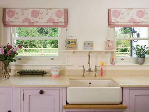 Виды штор для кухни