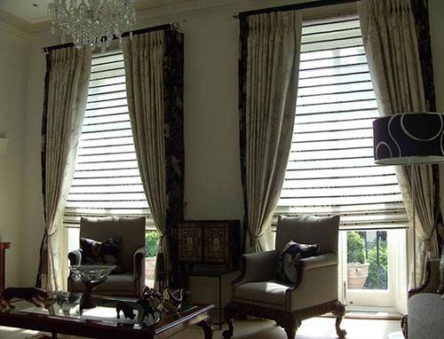 Виды штор в интерьере гостиной