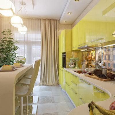 Выбор штор для кухни с балконной дверью