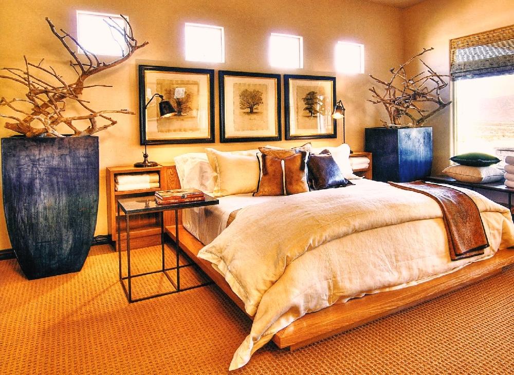 Интерьер спальни в стиле сафари