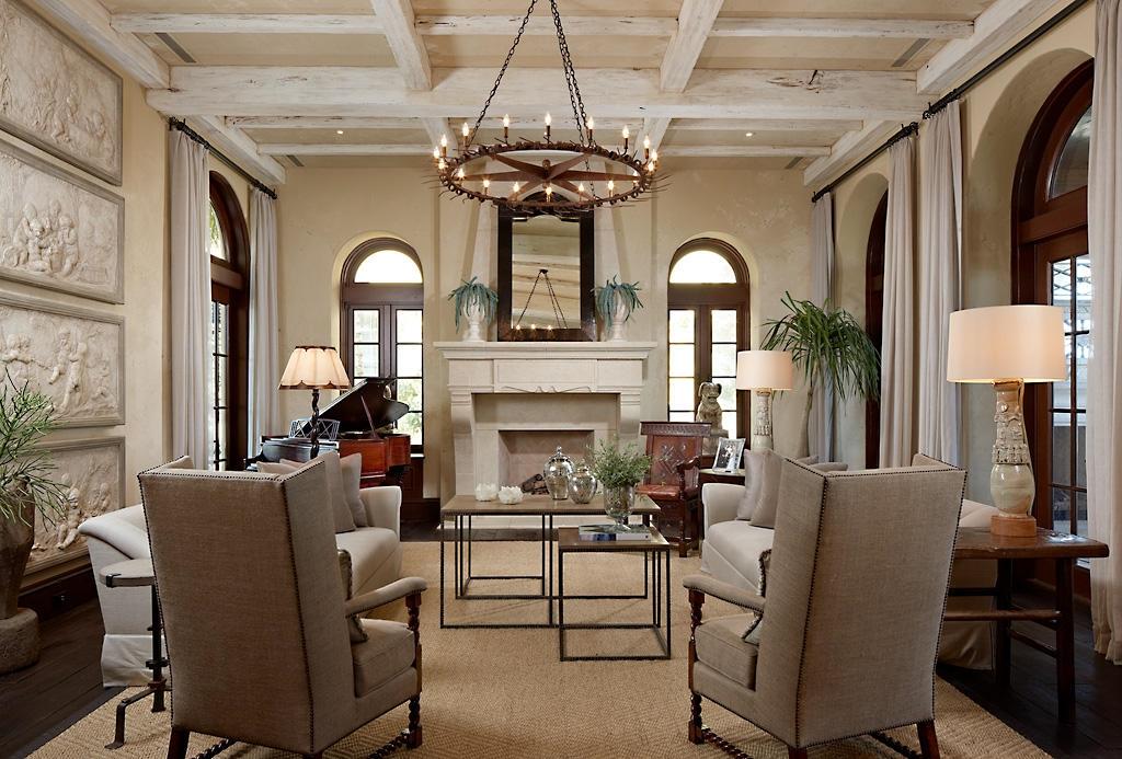 Оформление гостиной в античном стиле