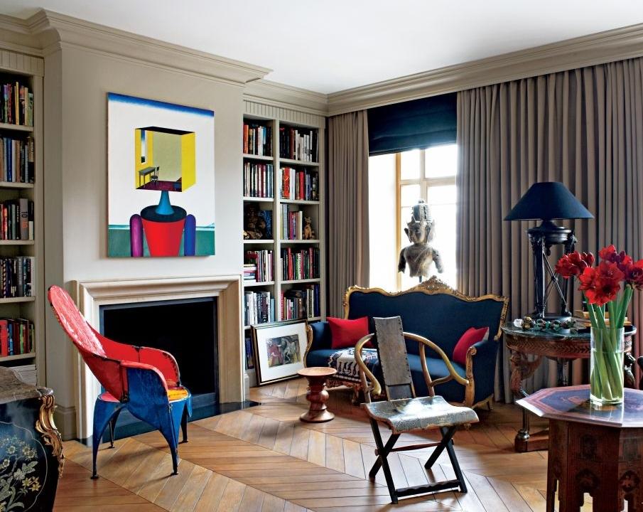 Мебель лучше выбрать функциональную, простых форм и очертаний
