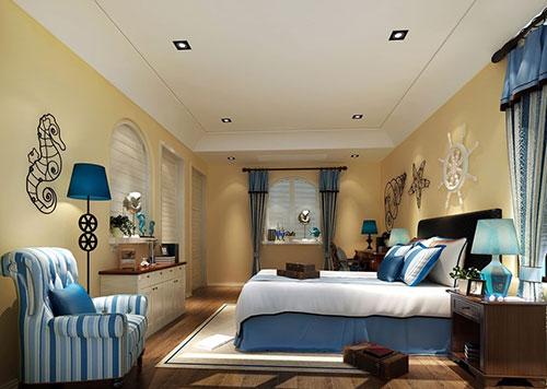 Гамма спальни в средиземноморском стиле