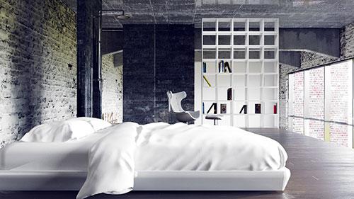интерьер спальни в стиле лофт стили интерьера