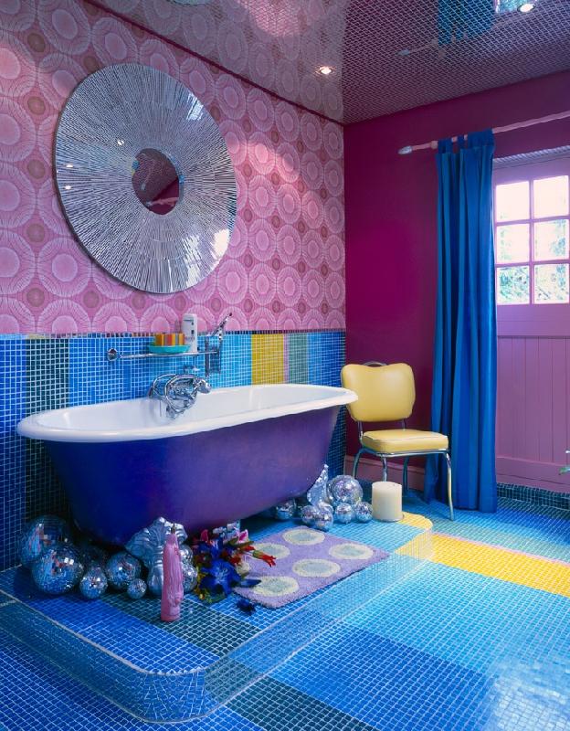 Интерьер ванной комнаты в китч стиле