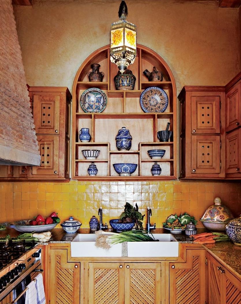 Интерьер кухни в марокканском стиле фото