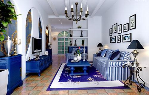 Мебель гостиной в средиземноморском стиле