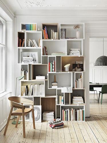 Шкафы интерьера в скандинавском стиле