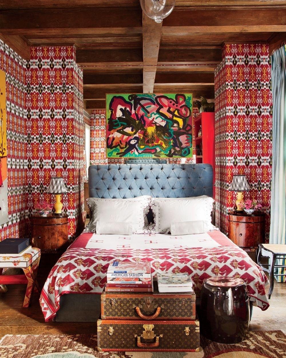 Дизайн-концепция спальни в стиле бохо