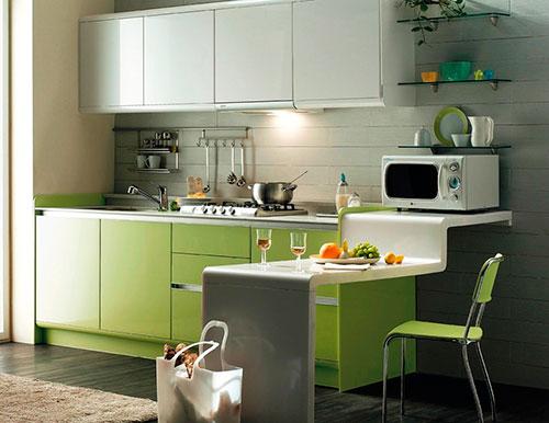 Стиль минимализм в кухонном интерьере