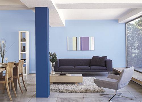Серый и голубой цвет в интерьере