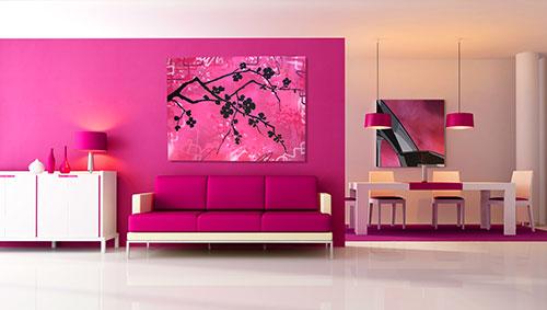 Розовый сочетание цветов в интерьере