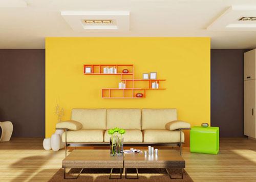 Сочетание жёлтого цвета в интерьере